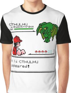 Cthulhu Pokemon Battle Graphic T-Shirt