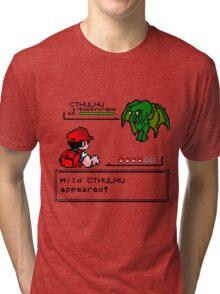 Cthulhu Pokemon Battle Tri-blend T-Shirt