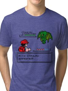 Cthulhu Pokemon Battle Tri-blend T-Shirt