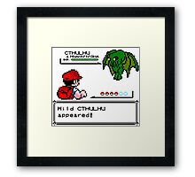 Cthulhu Pokemon Battle Framed Print