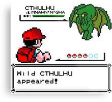 Cthulhu Pokemon Battle Metal Print