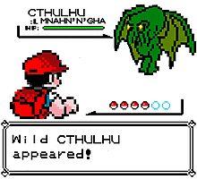 Cthulhu Pokemon Battle Photographic Print