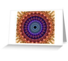 Mandala of coloured smoke Greeting Card
