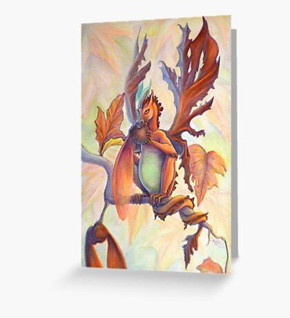 Maple Leaf Fairy Dragon Greeting Card