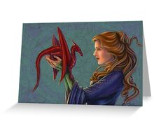 Young Red Dragon Greeting Card