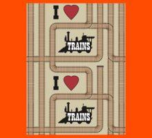Dean's Train Tracks Kids Tee