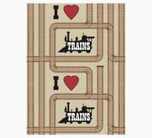 Dean's Train Tracks Baby Tee