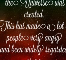 Hitchhiker's Guide Quote Sticker
