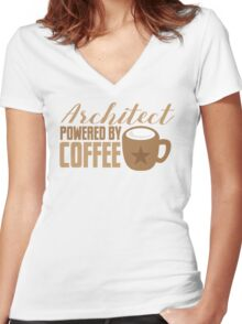 Architect powered by coffee Women's Fitted V-Neck T-Shirt