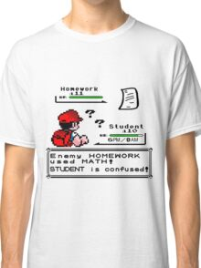 Homework Pokemon Battle Classic T-Shirt