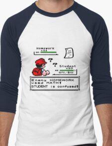 Homework Pokemon Battle Men's Baseball ¾ T-Shirt