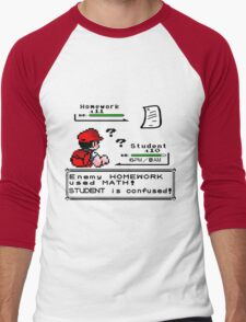 Homework Pokemon Battle Men's Baseball ¾ T-Shirt
