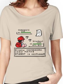 Homework Pokemon Battle Women's Relaxed Fit T-Shirt