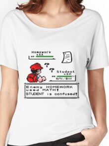 Homework Pokemon Battle Women's Relaxed Fit T-Shirt