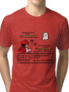 Homework Pokemon Battle Tri-blend T-Shirt