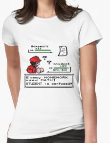 Homework Pokemon Battle Womens Fitted T-Shirt