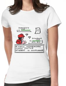 Homework Pokemon Battle Womens Fitted T-Shirt