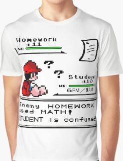 Homework Pokemon Battle Graphic T-Shirt