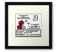 Homework Pokemon Battle Framed Print