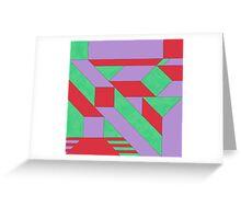 Gestalt Red, Green & Purple Greeting Card