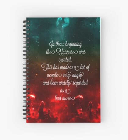Hitchhiker's Guide Quote Spiral Notebook