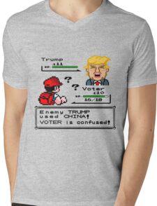 Donald Trump Pokemon Battle Mens V-Neck T-Shirt