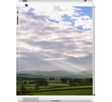 Light Beams over Yorkshire Dales, UK iPad Case/Skin