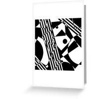 Gestalt Black&White Greeting Card