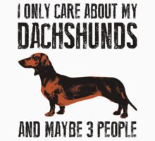 I only care about my Dachshunds and maybe 3 people Kids Tee