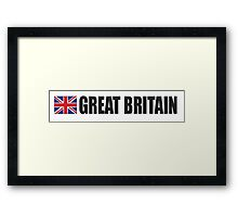 GREAT BRITAIN, Union Jack, British Flag, UK, United Kingdom, Framed Print