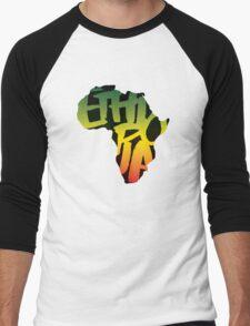 Ethiopia in Africa - Black Men's Baseball ¾ T-Shirt