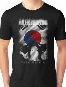 Taekwondo Mountain Fighter White Vintage 2 - Korean Martial Art  Unisex T-Shirt