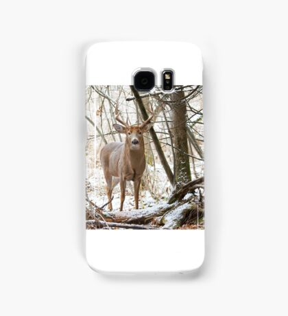 Edge of the Woods - White-tailed buck Samsung Galaxy Case/Skin