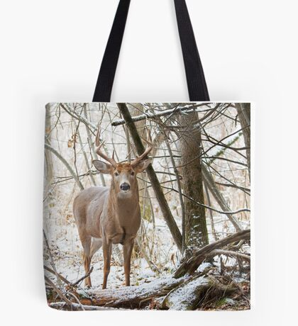 Edge of the Woods - White-tailed buck Tote Bag