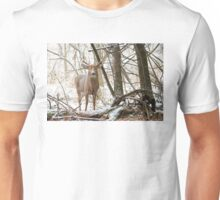 Edge of the Woods - White-tailed buck Unisex T-Shirt