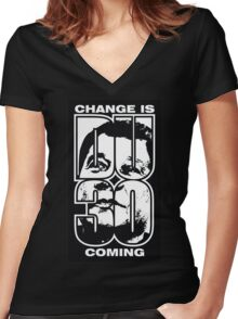 duterte, change is coming Women's Fitted V-Neck T-Shirt