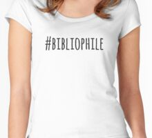 #bibliophile Women's Fitted Scoop T-Shirt