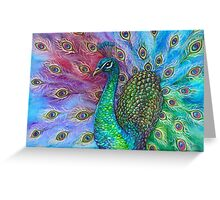 The Perfect Peacock. Greeting Card