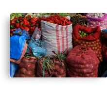Vegetables at the Market Canvas Print