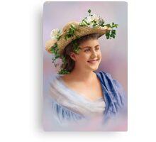 Colorized Vintge Portrait of Cissy Fitzgerald circa 1900  Canvas Print