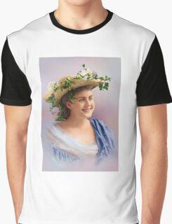 Colorized Vintge Portrait of Cissy Fitzgerald circa 1900  Graphic T-Shirt