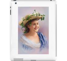 Colorized Vintge Portrait of Cissy Fitzgerald circa 1900  iPad Case/Skin