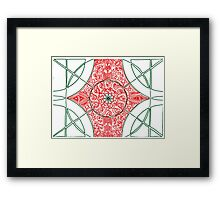 Green and Red Pattern Framed Print