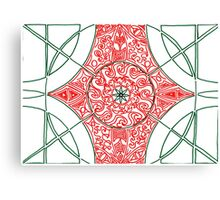 Green and Red Pattern Canvas Print