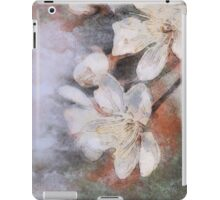 Flower retro background Blossoming of cherry.  iPad Case/Skin