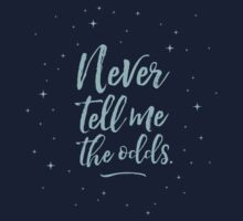 Never Tell Me The Odds (BLUE) Kids Tee