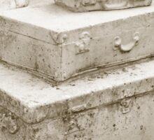 Suitcase Sculpture in Sepia Sticker