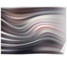Abstract modern wavy flowing silk, satin background. Poster