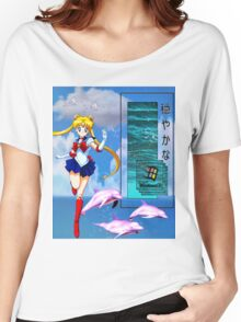 Sea Cyber Vaporwave aesthetics Women's Relaxed Fit T-Shirt
