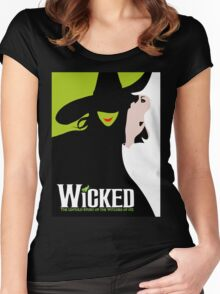 Wicked Broadway Musical Women's Fitted Scoop T-Shirt